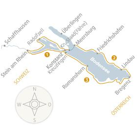 Map - A sporty tour around Lake Constance