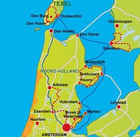 Karte Nordseeküste Holland.Ijsselmeer Nordseeküste