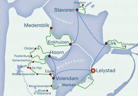 Niederlande Ijsselmeer Karte.Das Ijsselmeer Soeverein