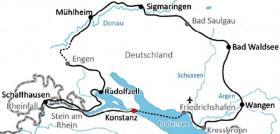 Radtour Bodensee Donau Allgau