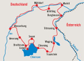 Cycle Tour Chiemsee & Rupertiwinkel - map
